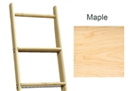 Library Ladder 10' Maple, Unassembled, Unfinished