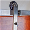 FLAT RAIL STICK STRAP Stainless Steel - 8 FT. Door Kit for WOOD Door