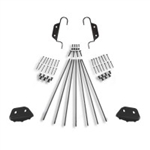 Double Hook Non-Skid Feet Ladder Hardware Kit for 20 in. Ladder