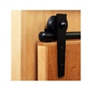 3/4 in. to 1-1/2 in. WEDGE Black Rolling Door Hardware Kit