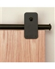 3/4 in. to 1-1/2 in. BASIC RECTANGLE Black Rolling Door Hardware Kit