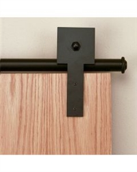 3/4 in. to 1-1/2 in. CUBE STICK Black Rolling Door Hardware Kit