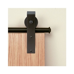 3/4 in. to 1-1/2 in. HOOK Black Rolling Door Hardware Kit