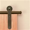 3/4 in. to 1-1/2 in. STICK Black Rolling Door Hardware Kit