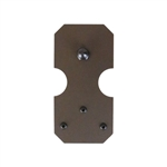 3/4 to 1-1/2 in. NOTCHED RECTANGLE  Hardware Kit - Short Bracket  (with 6 ft. Rail.
