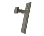 Short Wall Mount Rail Bracket - 1 in Projection- Satin Nickel