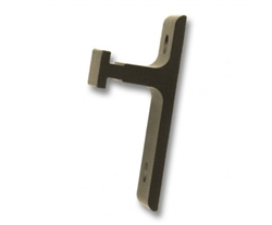 Short Wall Mount Rail Bracket - 1 in. Projection - Oil Rubbed Bronze