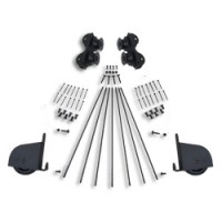 Rolling Contemporary Braking Hardware Kit for 16 in. Ladders