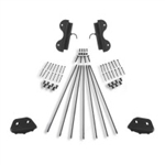 Sliding Single Hook Non-skid Feet Hardware Kit