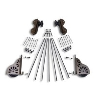 Rolling Hook Hardware Kit - Classic Non-Braking Wheel for 20 in. Ladders