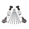 Rolling Hook Hardware Kit - Classic Wheel with Brakes for 20 in. Ladder