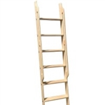 Walnut 20 in. WIDE Ladder - 8 ft. - with Integrated Handrails