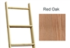 Library Ladder 8' Red Oak, Unassembled, Unfinished