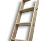 Walnut 20 in. WIDE Ladder - 9 ft. Ladder, Unassembled, Unfinished