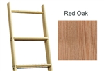 Library Ladder 9' Red Oak, Unassembled, Unfinished