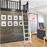 Red Oak Loft Ladder up to 12 ft. for 16 in. Wide Ladder, for use with Stationary Non-Skid Hardware