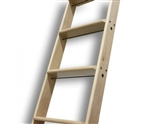 "AFRICAN MAHOGANY Ladder - Up to 10 ft. (Order ""In-Stock"" for 10 ft. Ladder)"