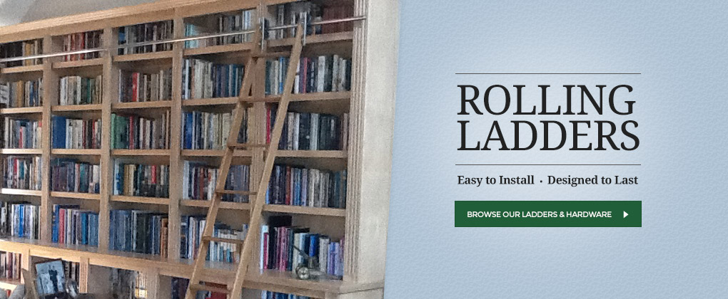 Rolling Ladder Kits Hardware – Rolling Ladders for Bookcases